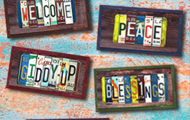 Trailer tags recycled license plate art by christy anderson a trailer tag with your house number numbers only no letter is only 50 plus shipping and tax ca only click here to create your trailer tag solutioingenieria Choice Image